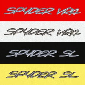 Mitsubishi 3000GT Spyder Decals Emblems Logos